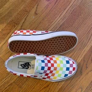 Vans Shoes - Women's Vans Colorful Checkered Slip On Shoe
